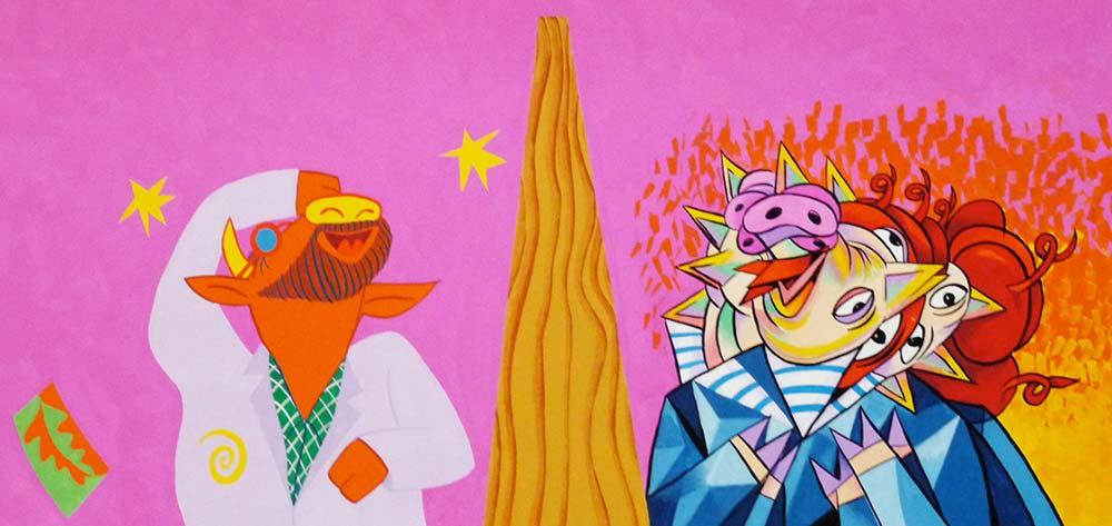 """""""Pigasso and Mootisse Laughing"""" from """"When Pigasso Met Mootisse"""""""