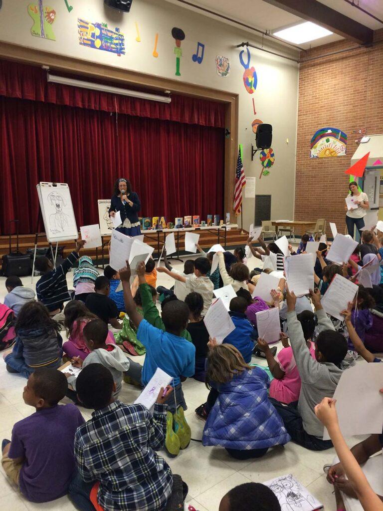 Nina Speaking at Leschi elementary school